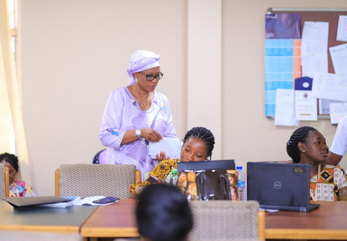 Professor (Mrs.) Atinuke Adebanji leads workshops for mid-career women scientists